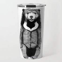 Sitting Sun bear Travel Mug