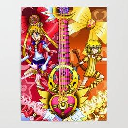 Sailor Mew Guitar #4 - Sailor Moon & Mew Pudding Poster