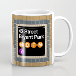 subway bryant park sign Coffee Mug