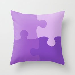 Pastel Ultra Violet Puzzle Pattern Jigsaw Pieces Throw Pillow
