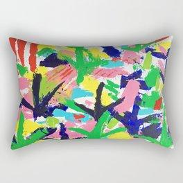 Bird Tracks, Abstract Art Rectangular Pillow