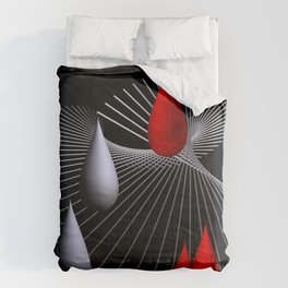 red and white on black -27- Comforters