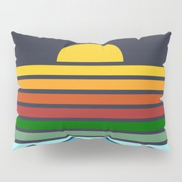 Geometric Rainbow Nature Pillow Sham