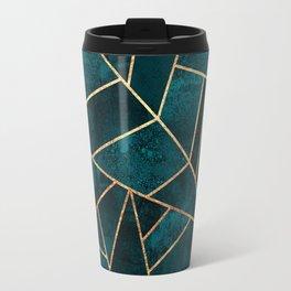 Deep Teal Stone Travel Mug