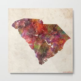 South Carolina map Metal Print