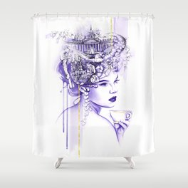 Miss Saint Petersburg Shower Curtain