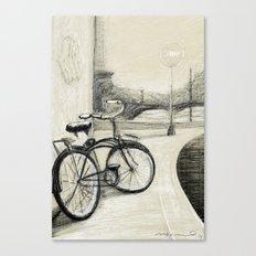 My Bike in New Brunswick Canvas Print