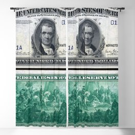 1918 $500 Federal Reserve Marshall Bank Note Blackout Curtain