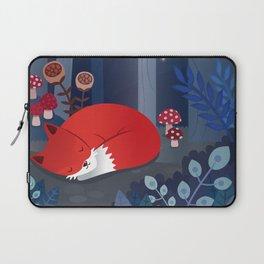 Little fox sleeps in the woods Laptop Sleeve