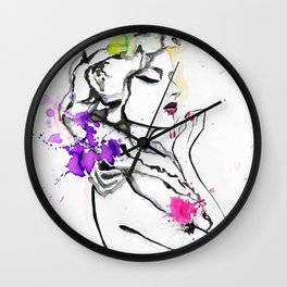 Fashion illustration 5 Wall Clock