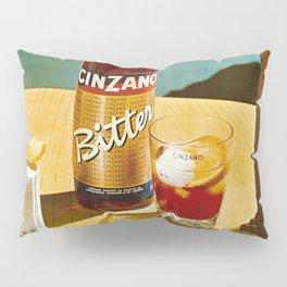 Vintage Bitter Cinzano Advertisement Poster Pillow Sham