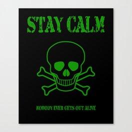 Stay Calm Pirate Flag Canvas Print