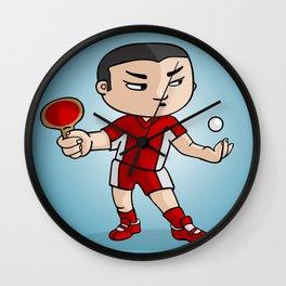 Ping Pong player Wall Clock