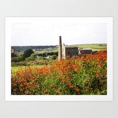 Castle In The Fields Art Print