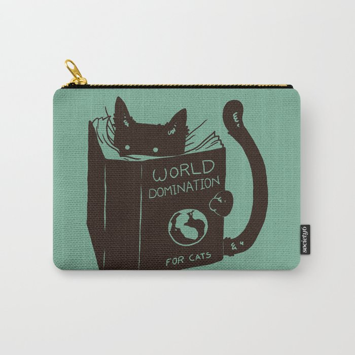 World Domination for Cats (Green) Carry-All Pouch