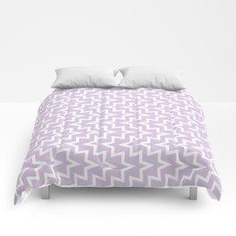 Sea Urchin - Light Purple & White #922 Comforters