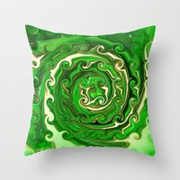 irish Throw Pillows featuring Irish Green by Chris' Landscape Images & Designs