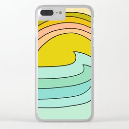 daydreams glassy swells and sunrise radiate by surfy birdy Clear iPhone Case