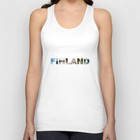 finland Tank Tops featuring Finland by Valeria Marelli