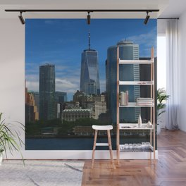 Manhattan View From Hudson River Wall Mural