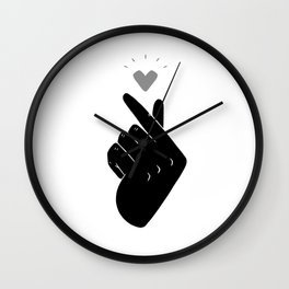 Saranghae (Black & White) Wall Clock