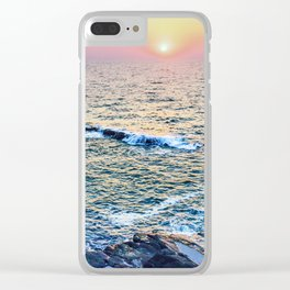 Sunset at fort Aguada Clear iPhone Case