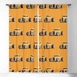 Classic American 32 Hotrod Car Illustration Blackout Curtain