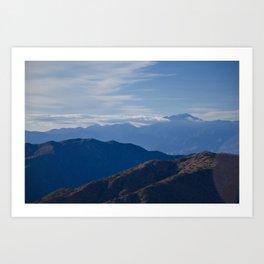 California Mountains Art Print