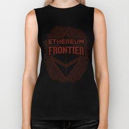 Ethereum Frontier (dark red) Biker Tank