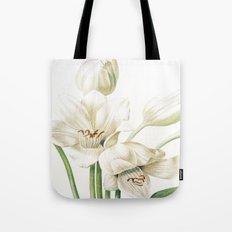 VI. Vintage Flowers Botanical Print by Pierre-Joseph Redouté - Crinum Jagus Tote Bag