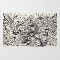 doodle Area & Throw Rugs featuring Doodle by Antria Sofroniou
