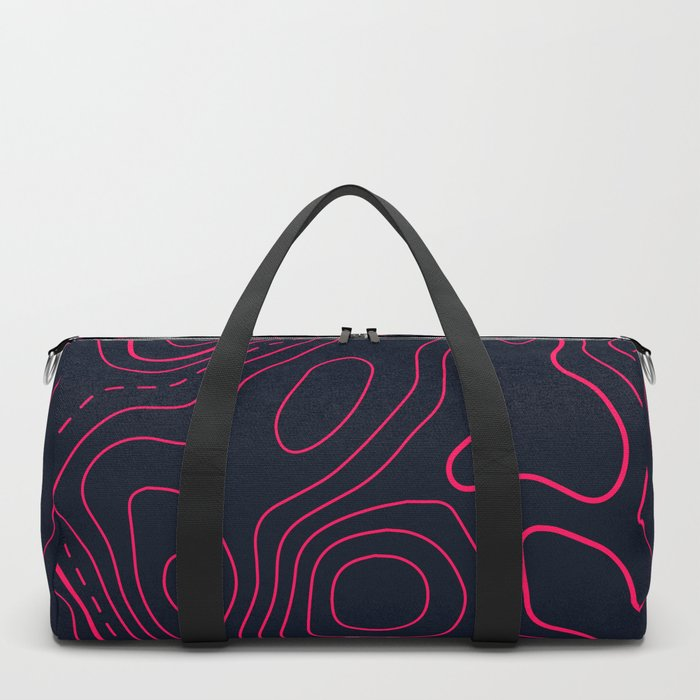 Topographic Map Pattern Duffle Bag