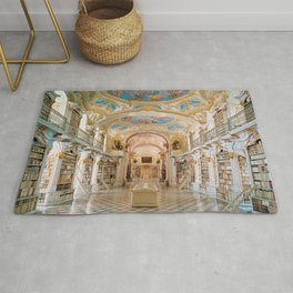 The Magnificent Admont Abbey Library of Admont, Austria Photograph Rug