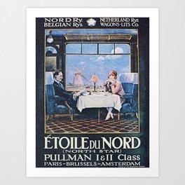 Vintage poster - North Star Art Print