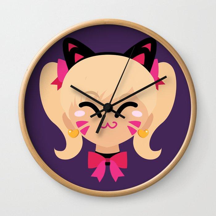 D.Va Cat Skin Wall Clock