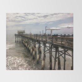 Cocoa Beach Pier Throw Blanket