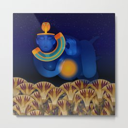 Nut, Egyptian Goddess Metal Print