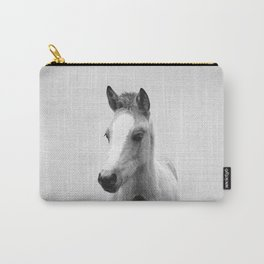 Baby Horse - Black & White Carry-All Pouch