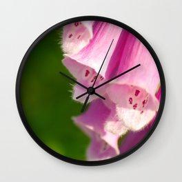 Pink Foxglove Wall Clock