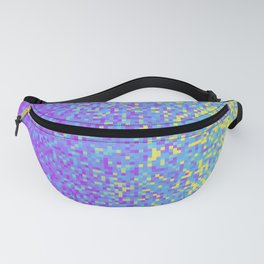 Purple Lilac Yellow Pixilated Gradient Fanny Pack