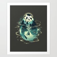 chrono trigger Art Prints featuring Trigger of Life by Hyperlixir