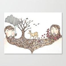 Beard Together Canvas Print