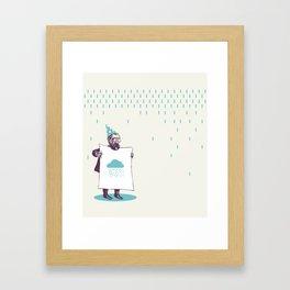 It's raining. Framed Art Print
