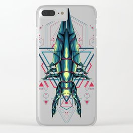 Space Ship sacred geometry Clear iPhone Case