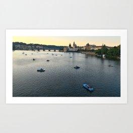 Vltava evening Art Print
