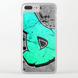 D - Graffiti letter Clear iPhone Case