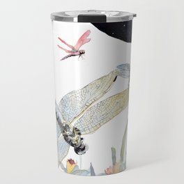 Good Night Surreal Dragonfly Artwork Travel Mug