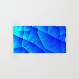 Bright sea pattern of heavenly and blue triangles and irregularly shaped lines. Hand & Bath Towel