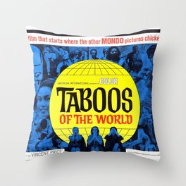 Taboos of the World Throw Pillow