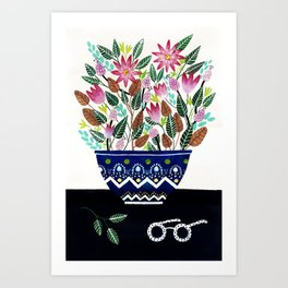 Flowers in a Vase 2 Art Print